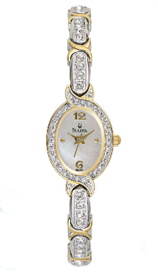 Employee Recognition Watches - Crystal - Bulova Ladies Watch 98L005