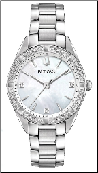 Employee Recognition Watch - Diamond- Bulova Ladies Watch 96R228